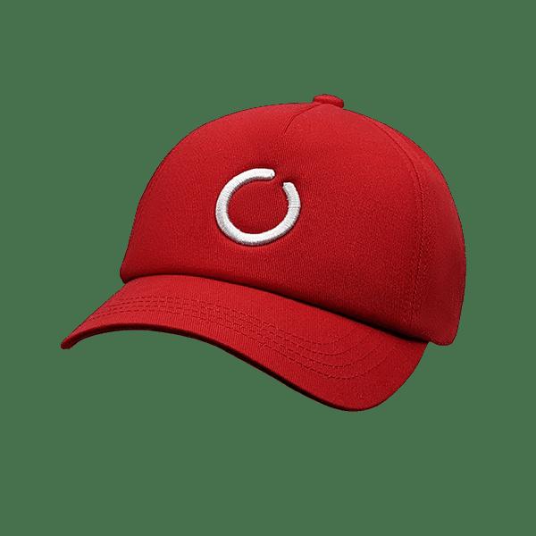Red 5 panel UPF 50+ hat
