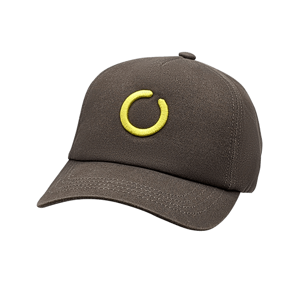 Gray 5 panel UPF 50+ hat