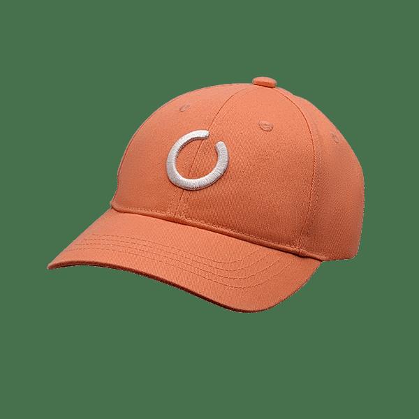 Orange 6 panel UPF 50+ hat
