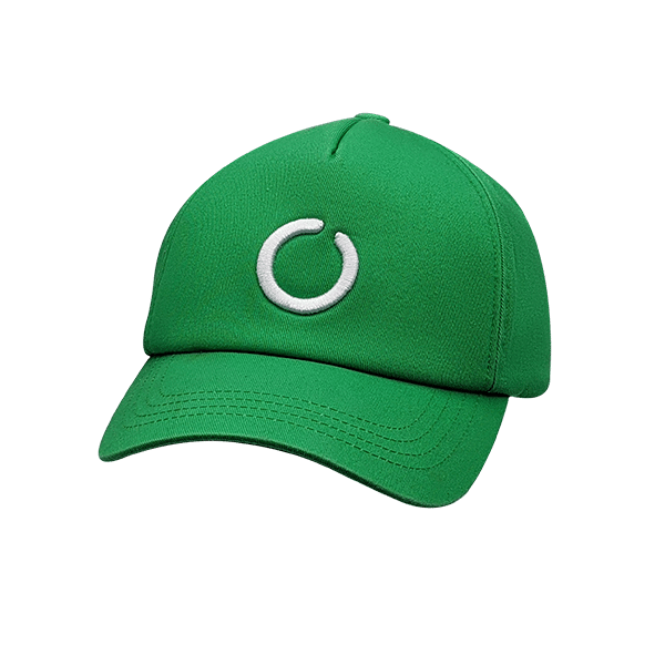 Green 5 panel UPF 50+ hat