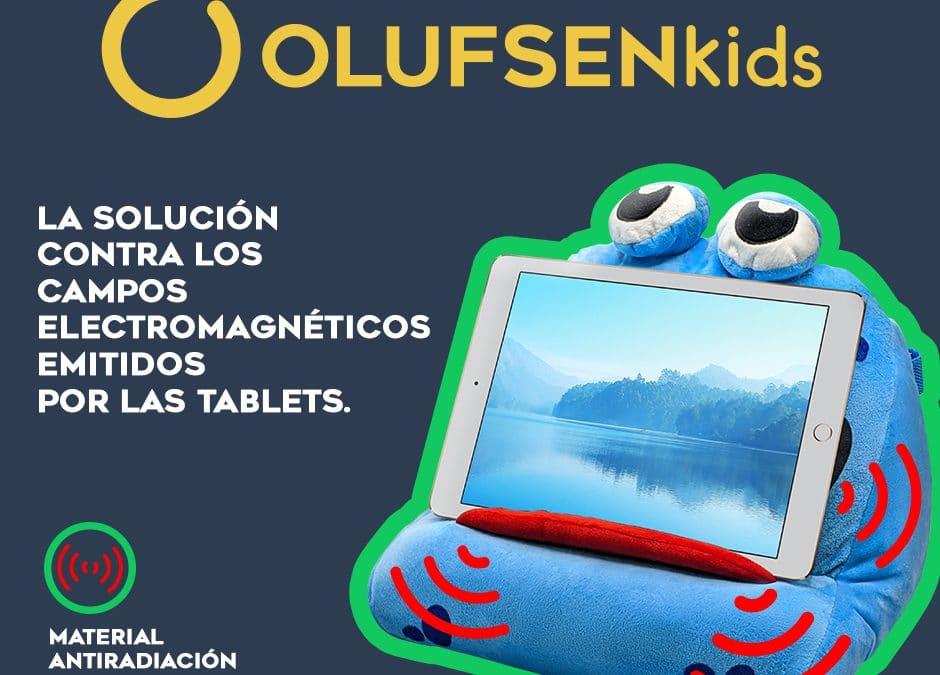 Innovador soporte de tablets para uso infantil